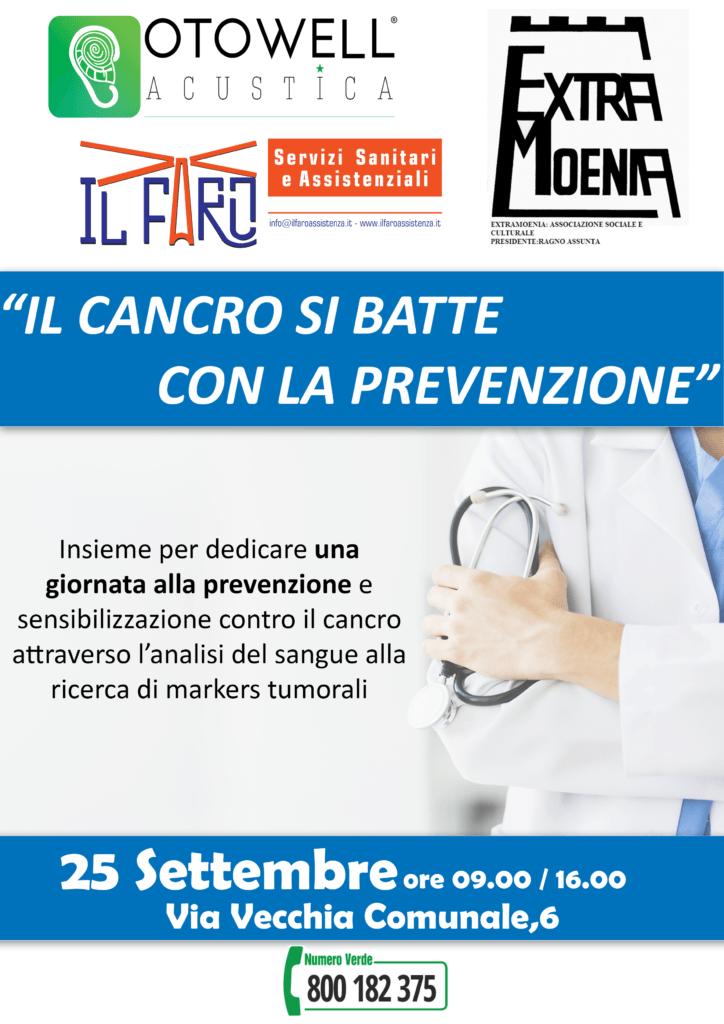 25 Settembre : Giornata di prevenzione contro il cancro